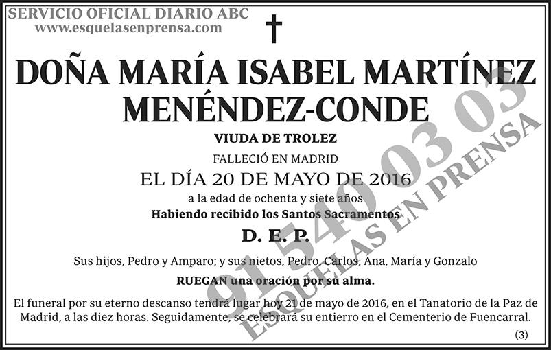 María Isabel Martínez Menéndez-Conde